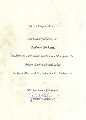 Goldene Hochzeit Von Melitta Und Heinz